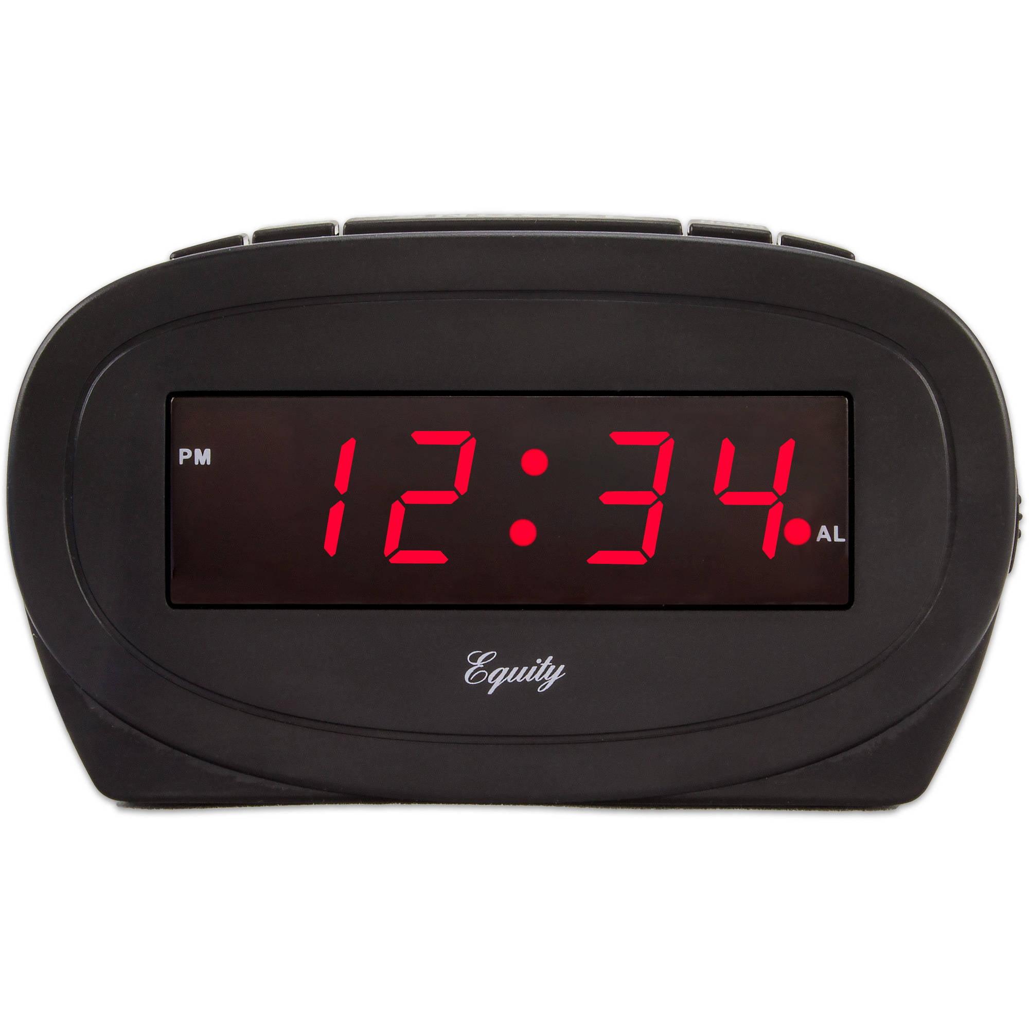 La Crosse Technology Equity Black LED Alarm Clock by La Crosse Technology