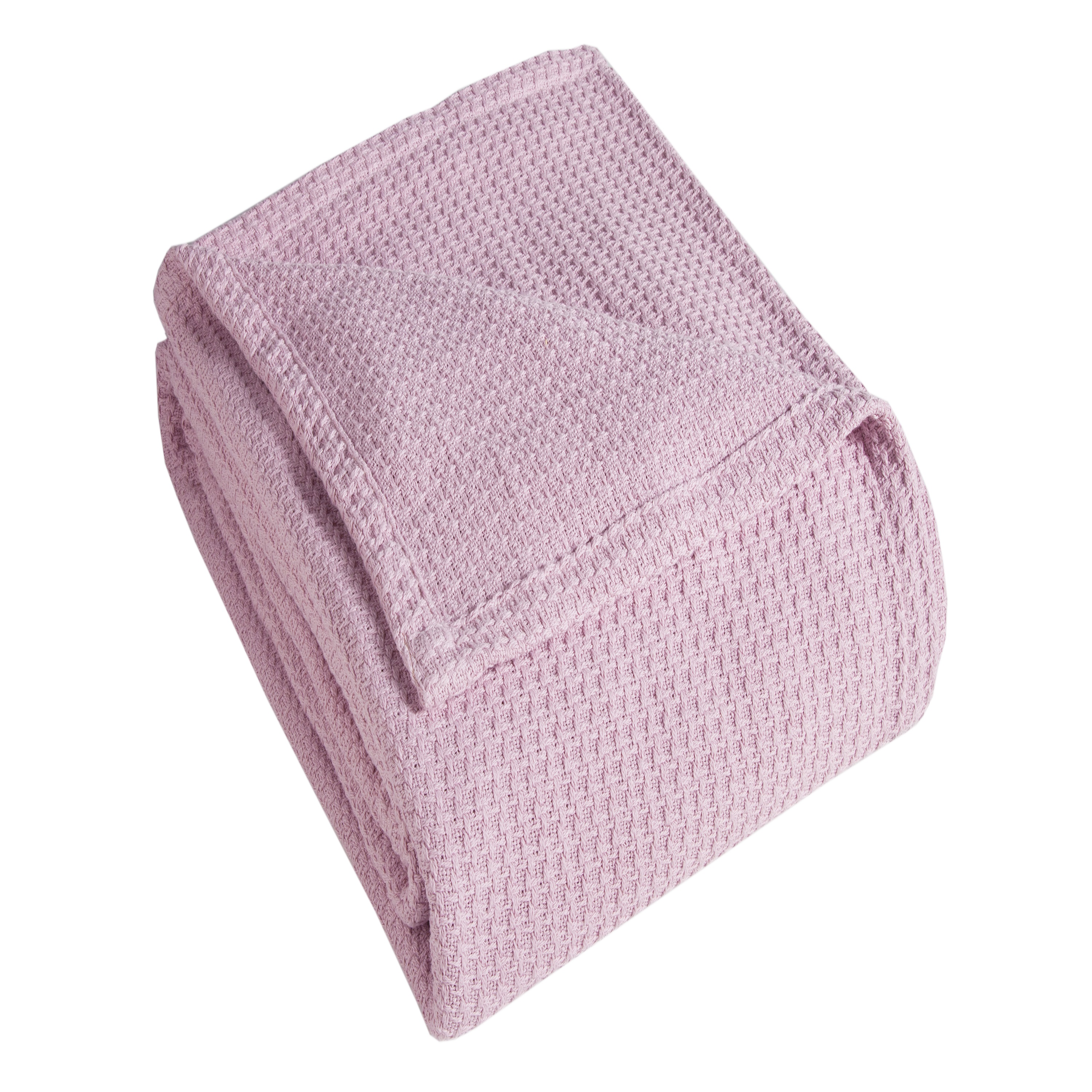 Grand Hotel Woven Cotton Blanket, Full/Queen, Pink ...