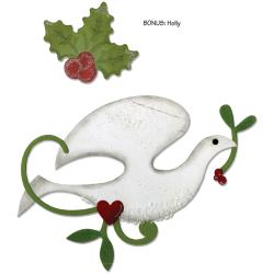 Sizzix Basic Grey Dove And Holly Bigz And Embosslits Dies