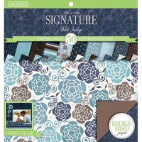 "Colorbok Signature Collection 12""x12"" Paper Pad-Wild Indigo, 50 Count"
