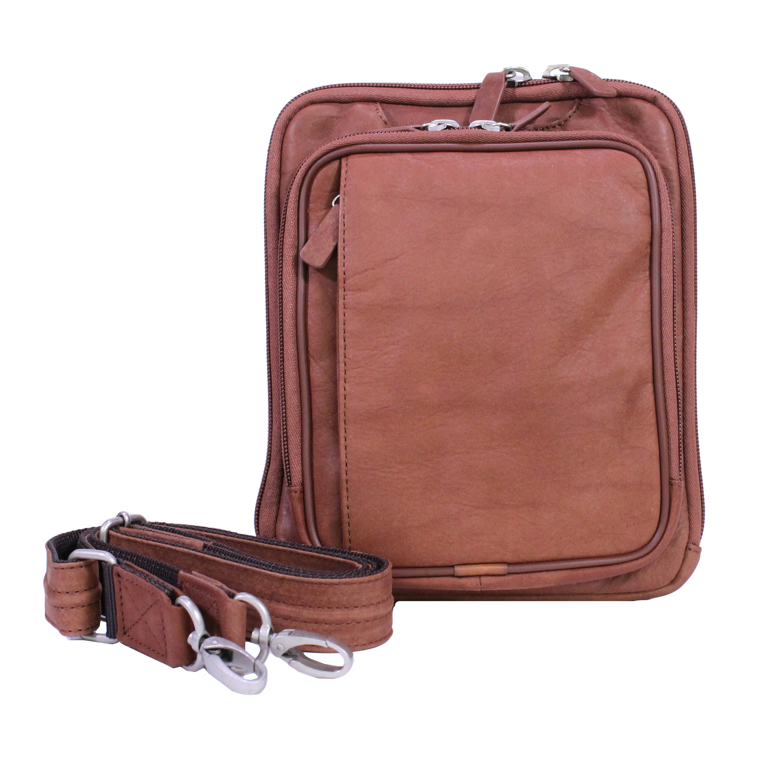 Gun Toten Mamas U.S. Bison Leather Raven Cross Body Bag, Rust GTMBIS-99/RUST