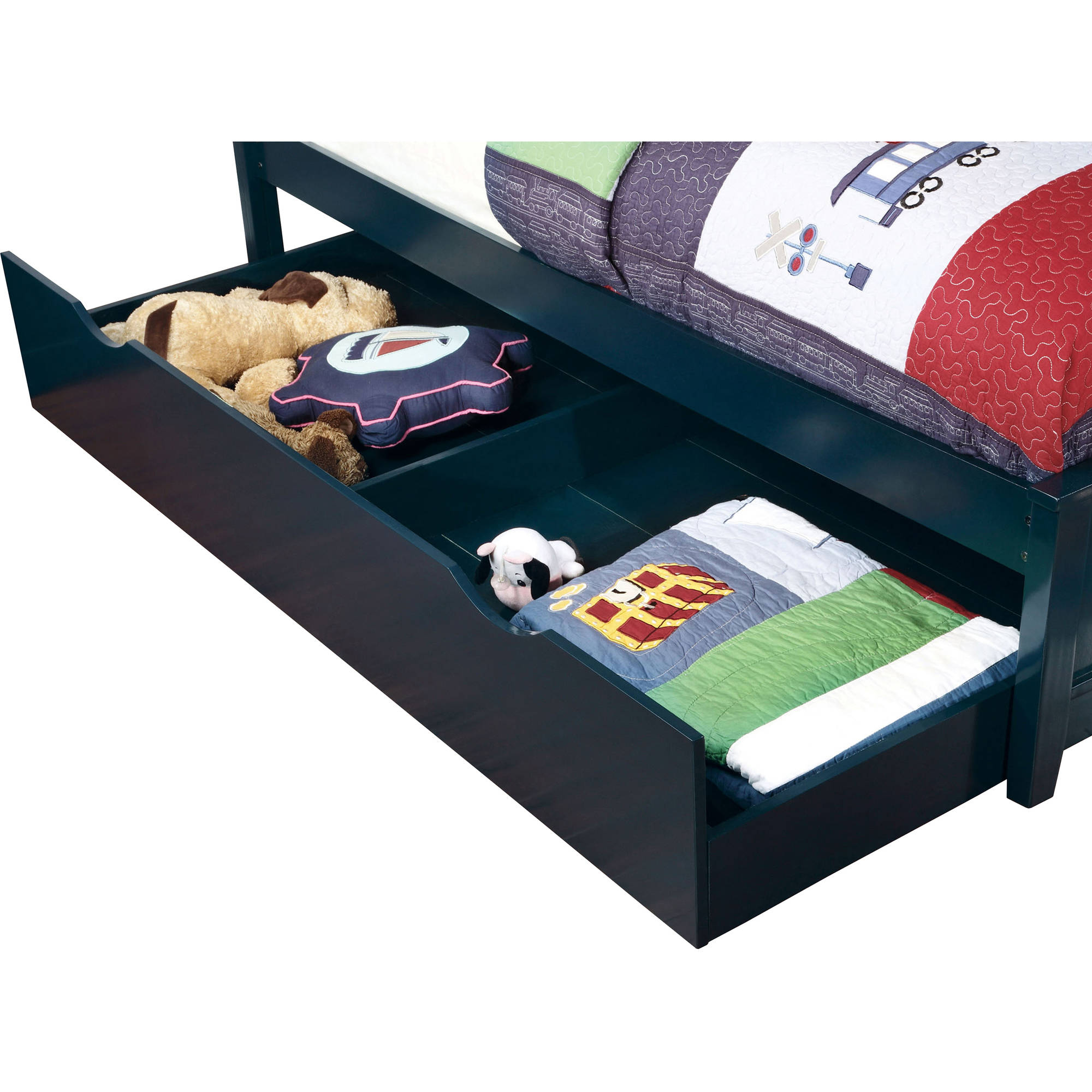 Prismo Twin Trundle Bed, Blue by
