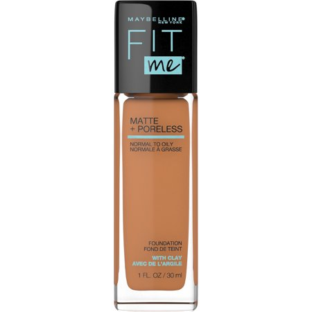 Maybelline Fit Me Matte + Poreless Liquid Foundation Makeup, Warm Sun, 1 fl. oz. Liquid Makeup Honey