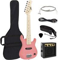 Best Choice Products 30In Kids Electric Guitar Beginner Starter Kit W/ 5W Amplifier, Strap, Case, Strings, Picks - Pink