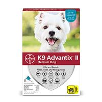 K9 Advantix II Flea and Tick Treatment for Medium Dogs