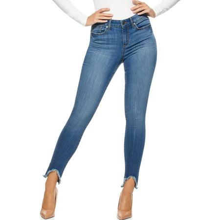 Sofia Jeans by Sofia Vergara Women's Sofia Skinny Mid Rise Stretch Ankle Jeans