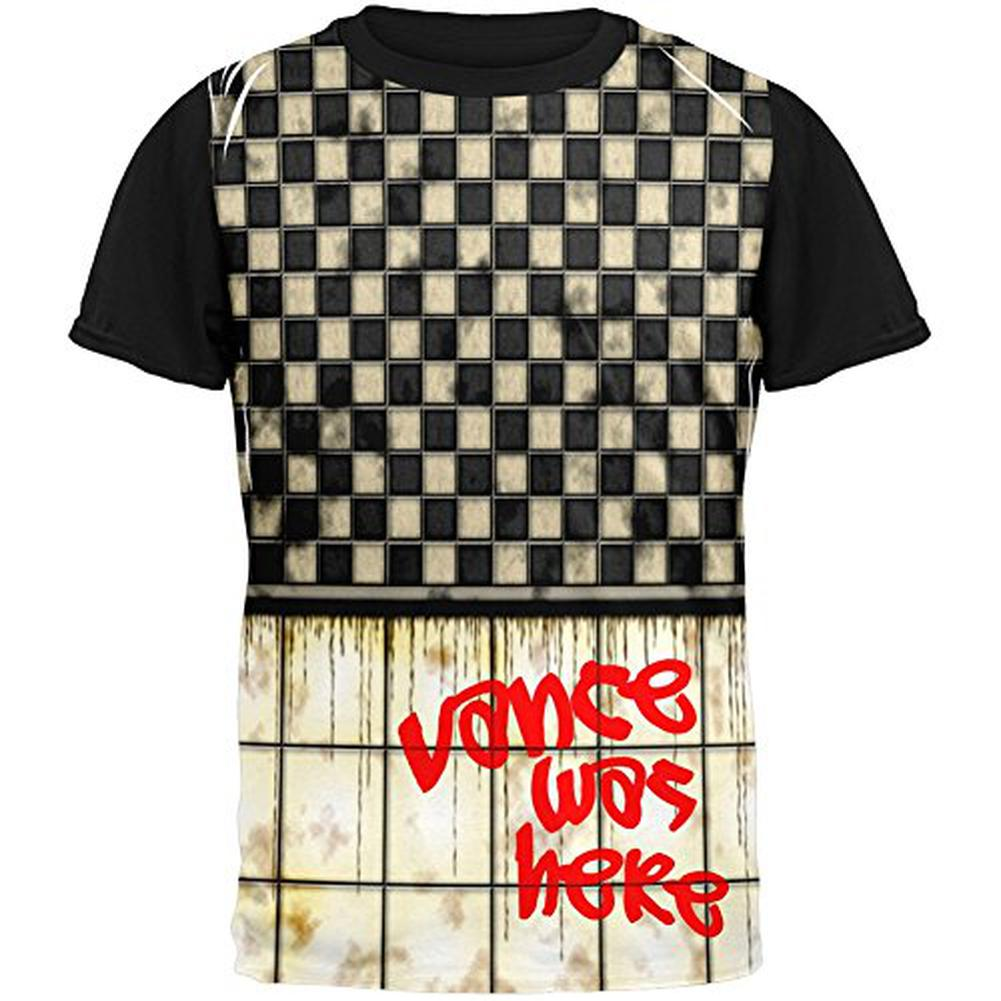 VANCE Was Here Graffiti Adult Black Back T-Shirt