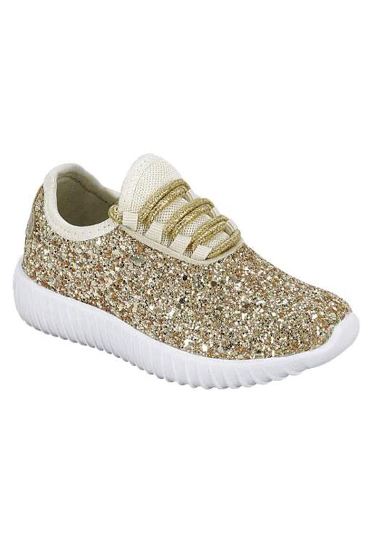 Womens Fashion Casual Glitter Spakling Sneakers Bomb Shoes Remi-18-7-Black