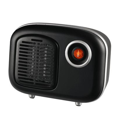 Soleil Personal Ceramic Mini Heater 250W Indoor Black MH-08B