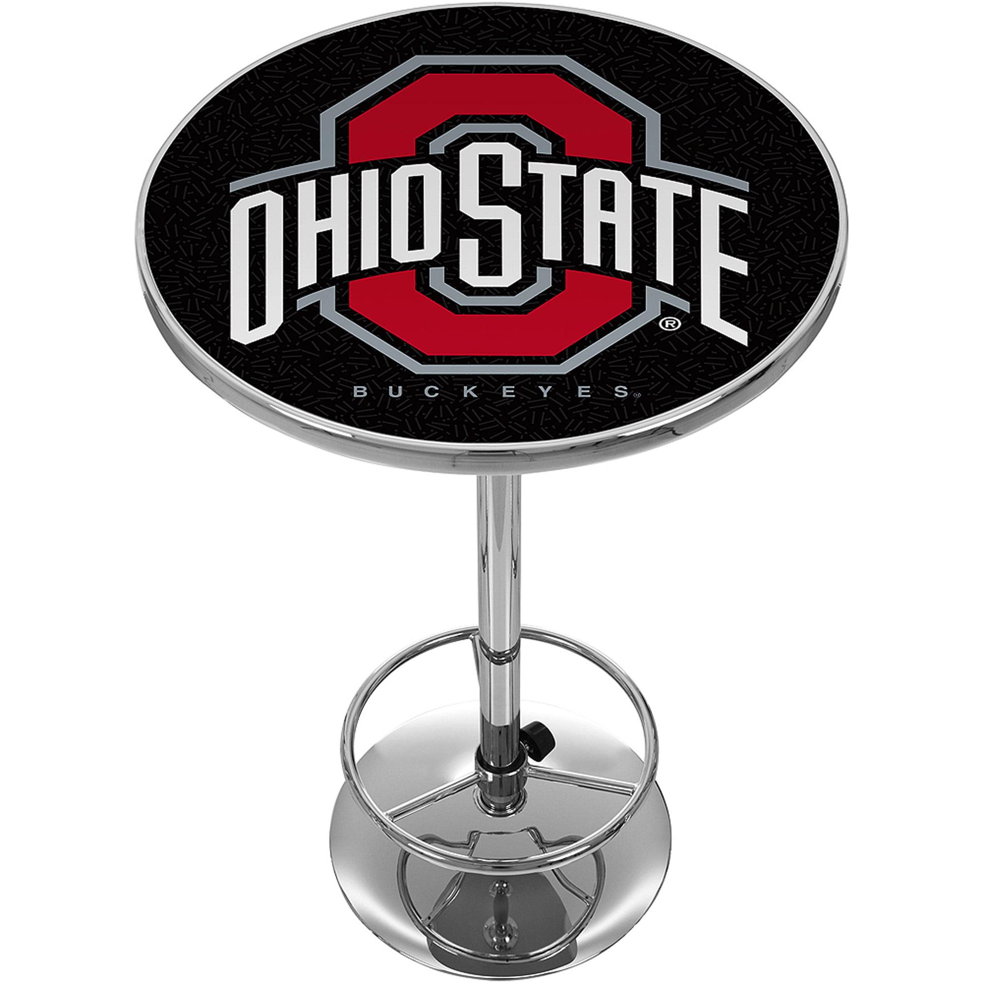 "Trademark NCAA The Ohio State University 42"" Pub Table, Black/Chrome"