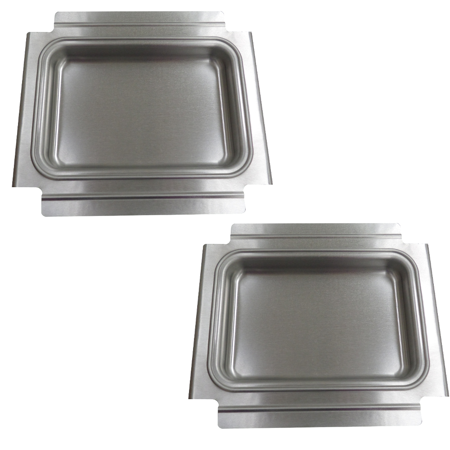 2 Weber Baby Q Gas Grill Catch Pan Grease Tray Slide