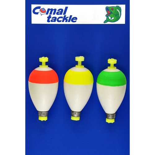 """Comal 1.75"""" Weighted Pear Snap-On Float, 3pk"""