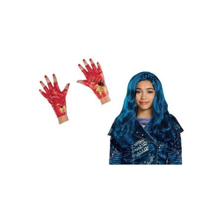 Cruella Deville Wig And Gloves (Descendants 2 Evie Girls Wig and Gloves Costume)