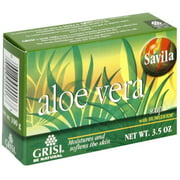 Grisi Natural Aloe Vera Soap, 3.5 oz (Pack of 3)