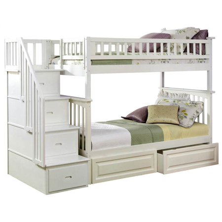 Atlantic Furniture Columbia Bunk Bed With Storage And