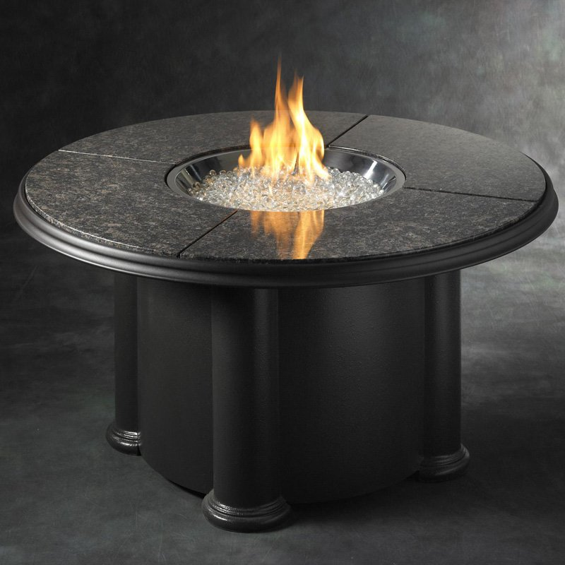 Outdoor GreatRoom Grand Colonial Granite Firepit Table by The Outdoor GreatRoom Company
