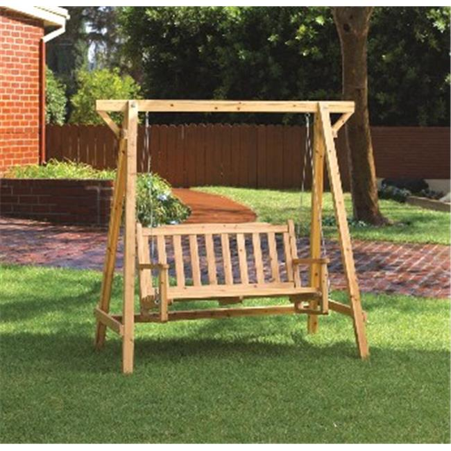 Zingz & Thingz Rustic Bench Swing with Stand