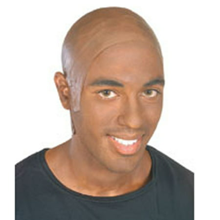 Latex Dark Bald Head - Bald Man Halloween Ideas