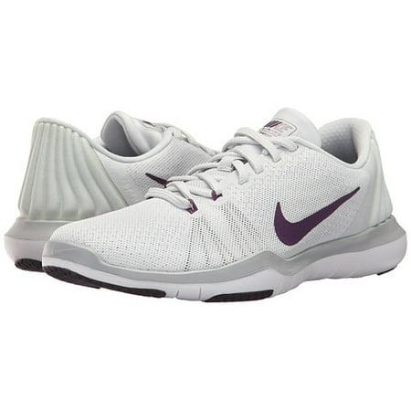 Nike - Nike FLEX SUPREME TR 5 Womens Platinum White Purple Athletic Running  Shoes - Walmart.com 78ab50765
