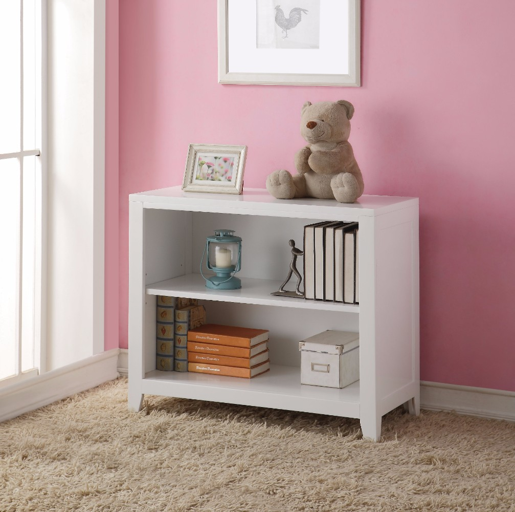 Simple Looking Wooden Bookcase, White