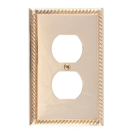 BRASS Accents M06-S8510-605 Georgian Single Outlet Polished Brass Switchplates ()