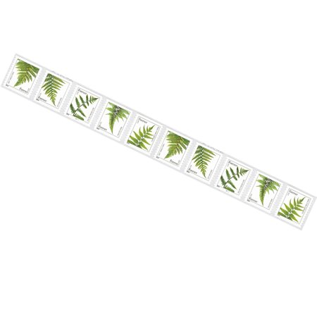 Definitive Postage Stamps - Ferns 20 Strips of 10 USPS Forever First Class Postage Stamps featuring 5 Different Designs of Ferns Weddings Announcements (200 Stamps)