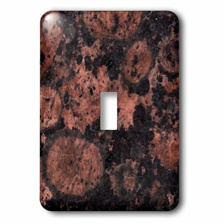 (3dRose Baltic brown granite print, Single Toggle Switch)