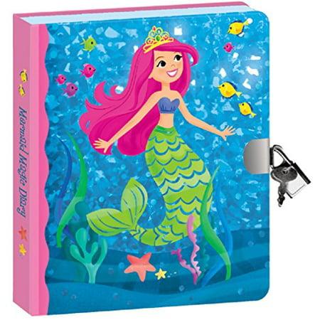 Peaceable Kingdom-Mermaid Foil-Lock and KeyDiary ()