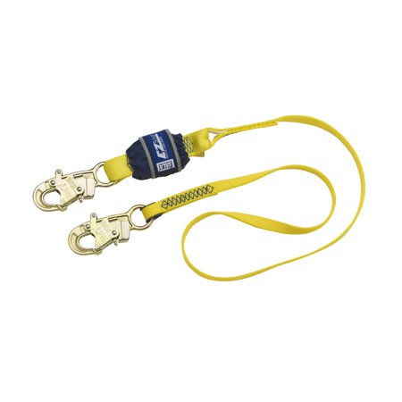 DBI/SALA 6' EZ-Stop 3/4'' Polyester Web Single-Leg Shock Absorbing Lanyard With Self-Locking Snap Hook At Each End