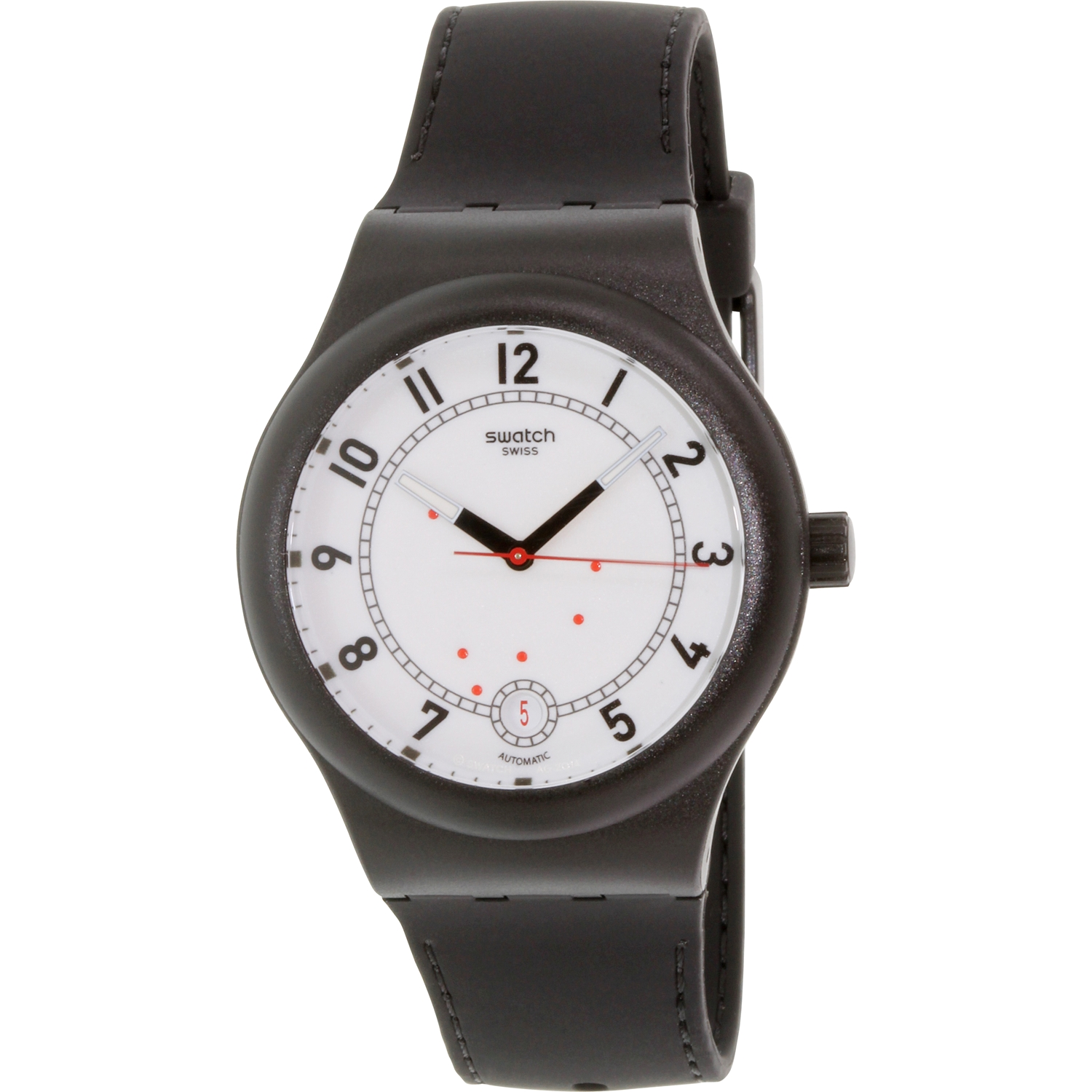 Swatch Men's Sistem51 SUTB402 Black Rubber Swiss Automatic Fashion Watch