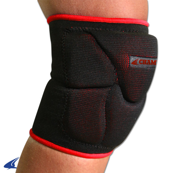 CHAMPRO Pro-Plus Low Profile Volleyball Knee Pad Large Black/Red