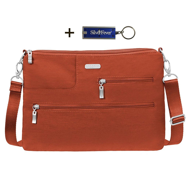 Baggallini Tablet Travel Bag RFID Wristlet Key Chin Purse...
