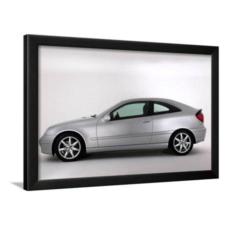 2003 Framed - 2003 Mercedes Benz C200k Coupe Framed Print Wall Art