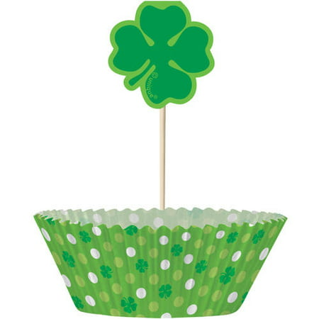 Shamrock St. Patrick's Day Cupcake Kit for -