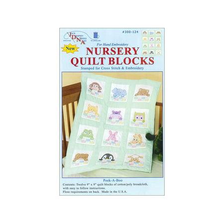 Jack Dempsey Nursery Quilt Blocks Peek A Boo 12pc (Biblical Quilt Blocks)