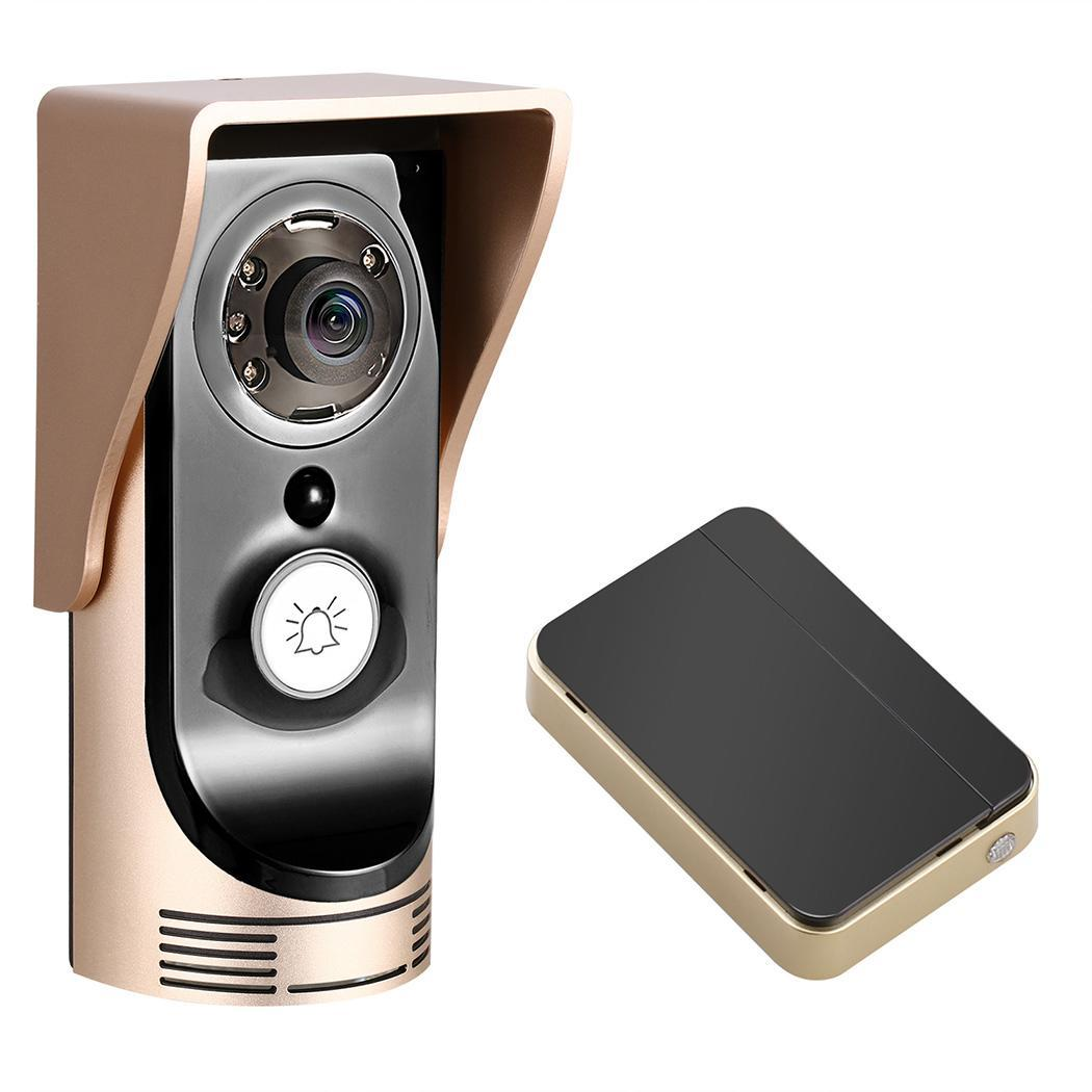 Smart WiFi Wireless DoorBell security with camera Night Visual Video Doorbell Via Phone Control WSY