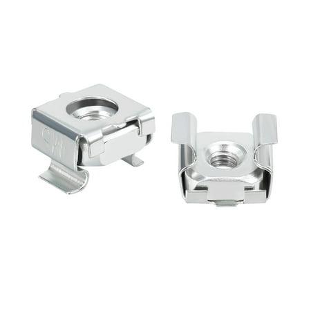 Unique Bargains 55pcs Carbon Steel Zinc Plated M5 Cage Nut for Server Shelf Cabinet - image 4 de 4