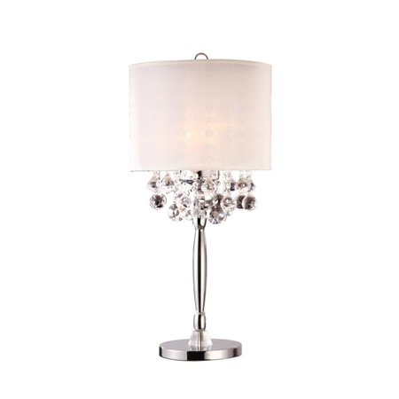 Ore International Inc. Crystal Silver Table Lamp