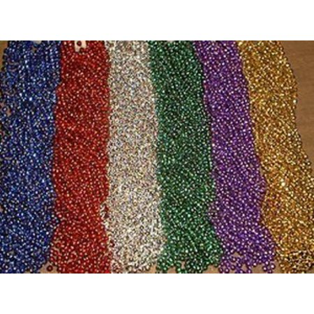 36 Globe Disco Ball 6 Colors Mardi Gras Beads Party Favors Necklaces (3 Dozen)