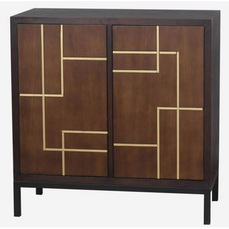 Home Source Brandon Brown Wood Two Door Cabinet ()