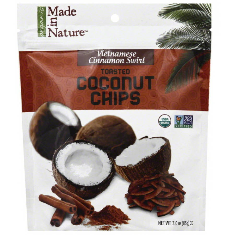 Made in Nature Vietnamese Cinnamon Swirl Toasted Coconut Chips, 3 oz, (Pack of 6)