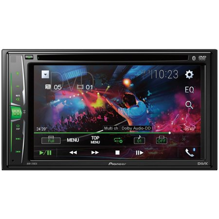 Pioneer AVH-210EX 6.2u0022 Double-DIN In-Dash Car Stereo DVD Receiver with Bluetooth