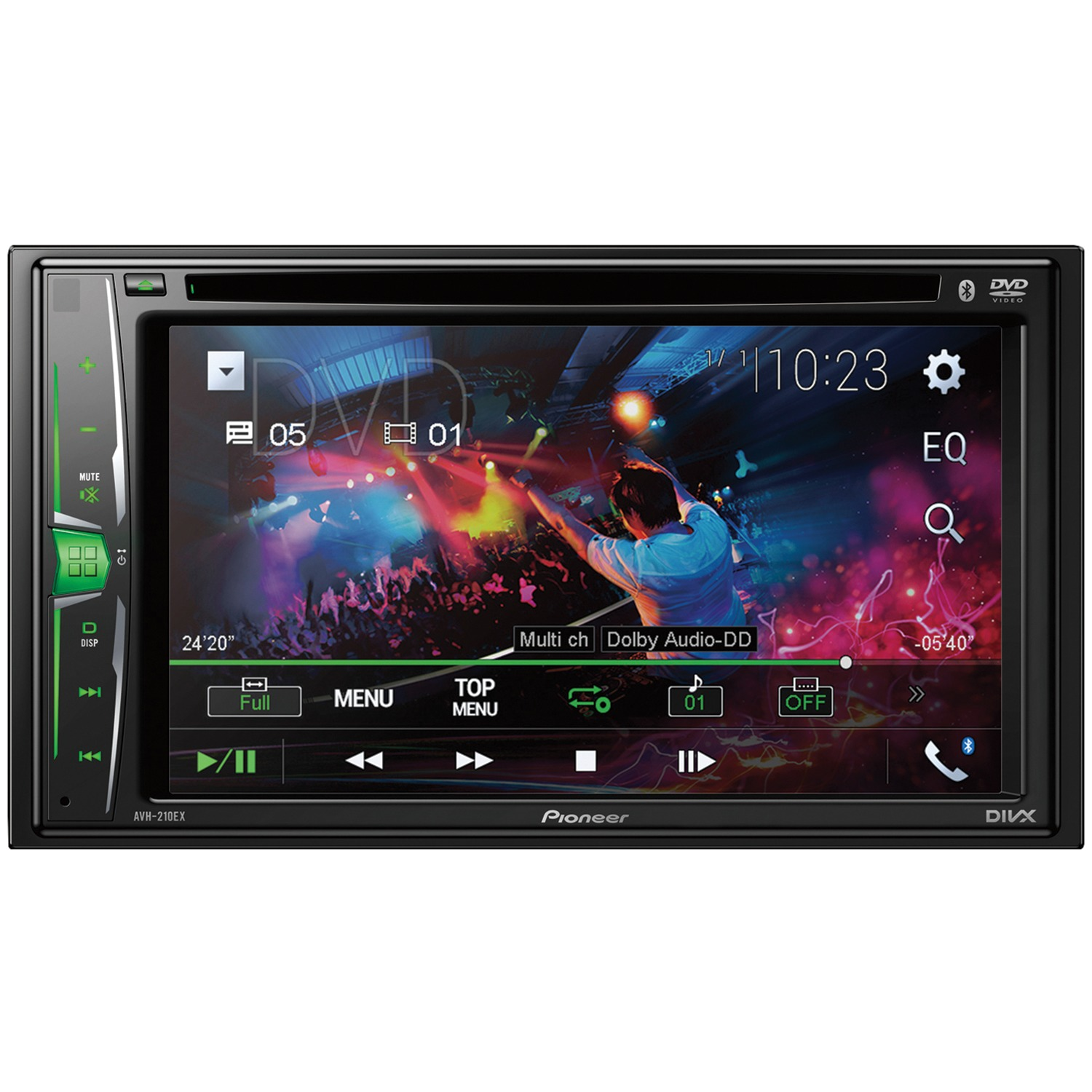 """Pioneer AVH-210EX 6.2"""" Double-DIN In-Dash DVD Receiver with Bluetooth"""