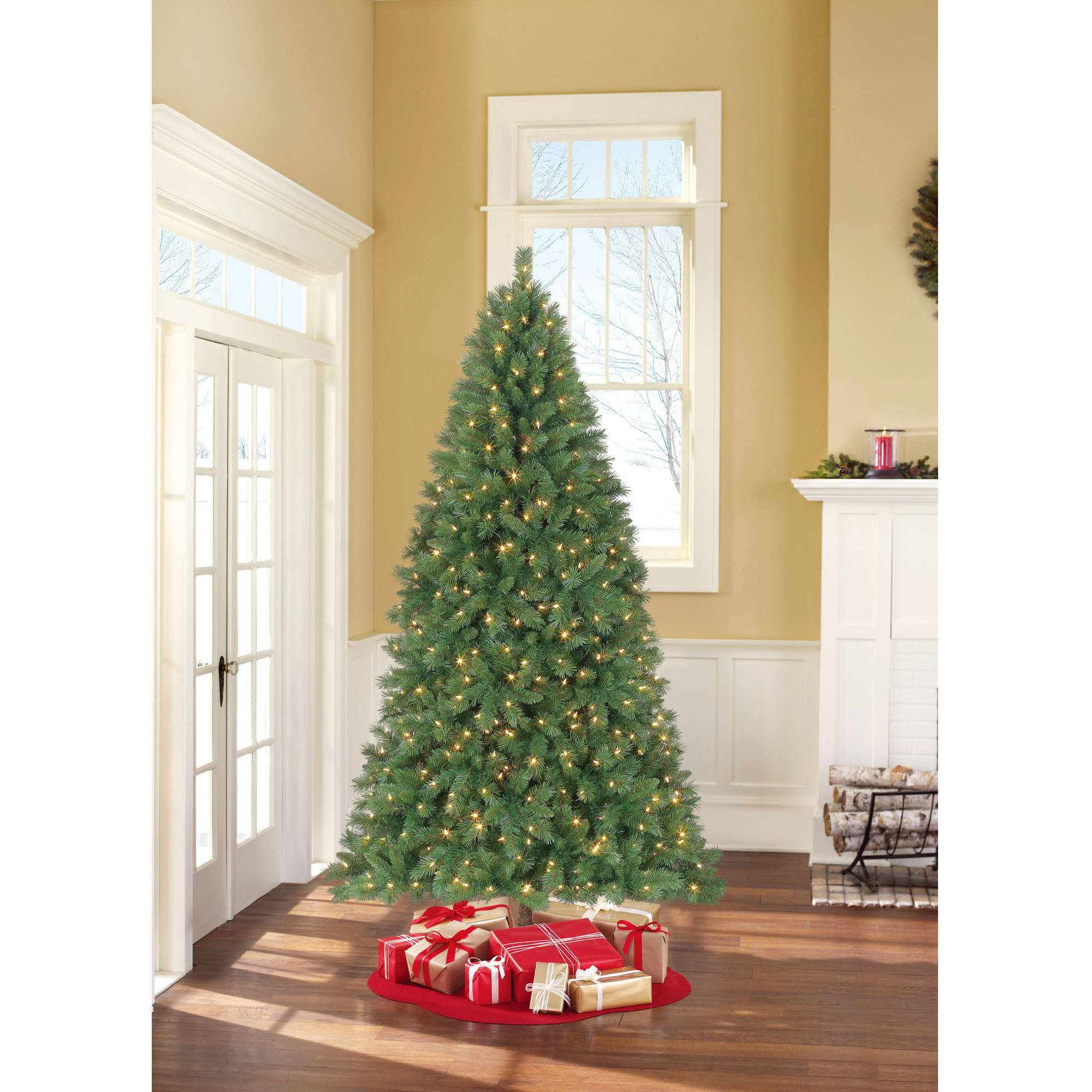 Holiday Time Pre-Lit 7.5\' Berkshire Pine Artificial Christmas Tree ...
