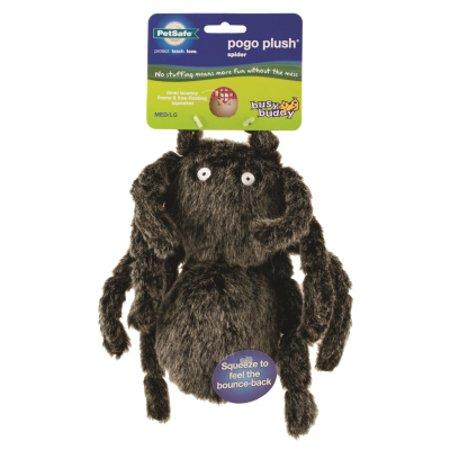 Petsafe Busy Buddy Pogo Plush Squeaker Spider Dog Toy  Large