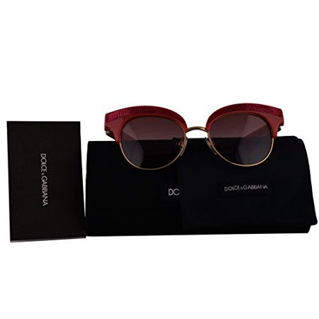 New Dolce Gabbana Sunglasses (Dolce & Gabbana Authentic Sunglasses DG6109 Fuchsia Gold w/Pink Gradient Lens 30978D DG 6109 (50mm))