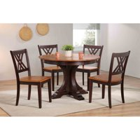 Iconic Furniture Deco 45 in. Double X-Back 5 Piece Round Dining Table Set