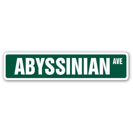 Abyssinian Kittens (ABYSSINIAN Street Sign cat breed feline kitty kitten | Indoor/Outdoor | 24