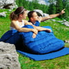Goplus Double 2 Person Sleeping Bag Waterproof w/ 2 Pillows Camping Queen Size XL