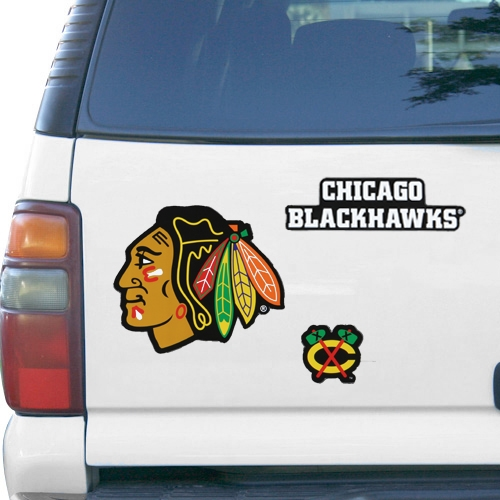 "Chicago Blackhawks WinCraft 11"" x 11"" 3-Pack Vinyl Magnet Set - No Size"